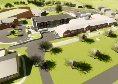 Caldwell County - Granite Falls - Middle School ~ Exterior Rendering 1
