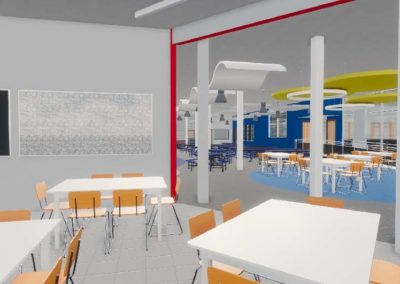 Caldwell County - Granite Falls - Middle School ~ Interior Rending STEM Space 1